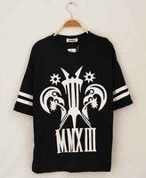 Bigbang male short-sleeve summer personalized print lovers short-sleeve T-shirt female