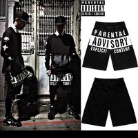 Parental advisory gd shorts hip-hop hiphop sports casual pants