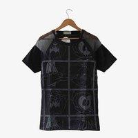 Harajuku bugs bunny cartoon donald duck gauze patchwork cotton t-shirt - 2 short-sleeve