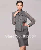NEW fashion 100% silk long sleeve women lady blouse, dress, pure color clothes, free shipping