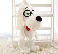 Free shipping - 2014 Mr.peabody and Sherman Cartoon Plush Doll Toys Stuffed,30CM,Baby toys ,glasses dog plush toy