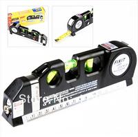 Free shipping New Laser Level Horizon Vertical Measure Tape 8FT Aligner   Laser line