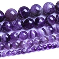 Wholesale 4mm 6mm 8mm 10mm 12mm Natural Purple Amethyst Round loose stone jewelry Beads Gemstone agate Beads Free Shipping