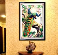 DIY 5D Diamond Embroidery Paintings Rhinestone Pasted 3D Diamond Stitch Tools Kit Animal Lover Peacock The Sitting Room Decor