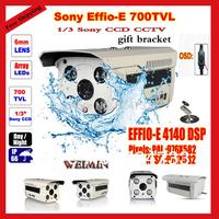 Wholesale - 1/3 inch SONY Effio-E CCD 700TVL 100m 4 LED Array IR Waterproof OSD menu Outdoor CCTV Camera
