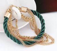 QQ Jewelry Fashion luxury multi-layer fashion knitted bracelet cxt9022