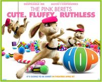50*79cm 1Piece 2014 New Design Hicks Versus Bunnies The Pink Berets Decal Removable Wall Sticker Home Decor Art Kids /Nursery