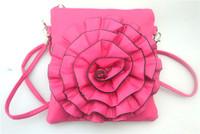 Free shipping  women's handbag Hot-selling camellia bag coin purse Flower Cross-body Handbag 16*17cm