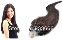 "100%  hair micro loop hair extensions remy hair extensions micro ring extensions 100s 0.5g/s 18""  #2   Free Shipping"