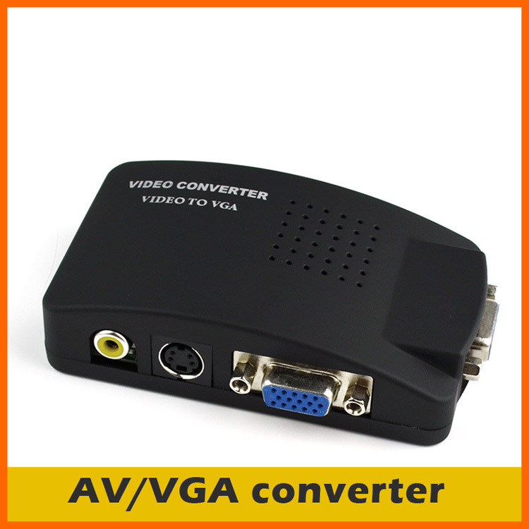 HHX genuine S-Video AV to VGA Video Converter PC TV set-top boxes turn the computer monitor(China (Mainland))
