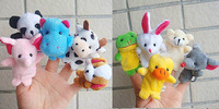 2014 New arrival 10 pieceas a lot newborn kids Boys/girls Lovely Animal Hand Finger Puppets Toys,Cute Finger Puppets Gifts T4132
