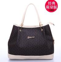 European and American big new fashion handbags boutique noble spirit of the original hit color portable big bag