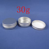30g empty aluminum jar with screw lid ,1oz aluminum container for cream /ointment /hand cream storage  ,free shipping ,100pc/lot