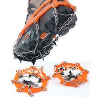 8 Teeth Climb Ice Snow Magic Spike Anti Slip Shoe Grips Cleats Crampons Footwear