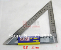 1pcs 200mm multipurpose triangular rule woodworking angle measure tools