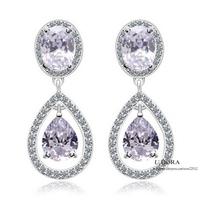 2014 18K Gold Plated AAA Cubic Zirconia Dangle Earrings For Bridal Wedding