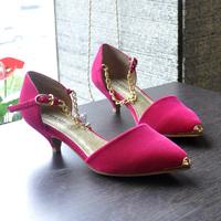 2014 hot sale summer women leather shoes , princess sandals