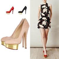 2014 platform high heels single shoes, new arrive platform party stiletto heel shoes