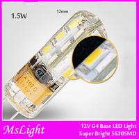 Led Bulbs 1.5 Watt G4 LED Bulb 12V AC/DC, 24 SMD 5630 LED, 1.5W Warm White / Cold White Color  (Bi-pin 20w Halogen Replacement)
