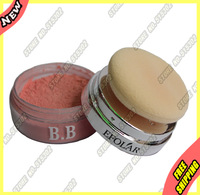 100% authentic Beauty Women Natural Mineral Blusher Loose Face Powder Blush Colour Base + Sponge E343-3 Travel Size Kit lot 1Pcs