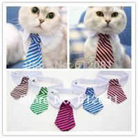 Free shipping New Pet Bow Tie dog cat bowtie Formal Pet Necktie adjustable Collar party necktie wedding dog tie 10pcs/lot