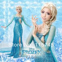 Frozen Elsa handmade cosplay costumes,FREE SHIPPING