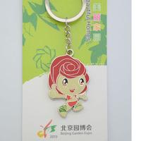 Free shipping Beijing tourist souvenirs Beijing gamboled garden expo park garden key ring - red Christmas
