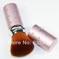 Professional nylon hair makeup brush powder makeup brush retractable brush