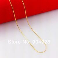 Luxury Africa Real 24K Yellow Gold Plated Necklace ! Blacks Women Men 1mm Thin Chain Jewelry  B015 Drop Shipp High Quality