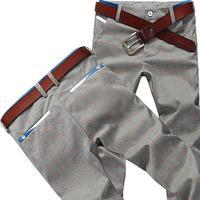 2014 new arrival style spring male casual pants England slacks slim type cotton Plaid trousers korean cheap pant fashion for men