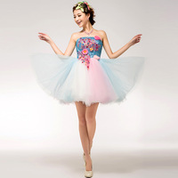 2014 costume tube top make-up bridesmaid dress
