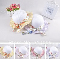 1 PCS NEW 2014 Children's Hat Straw Hat Tide viseira praia summer girl cap Free Shipping