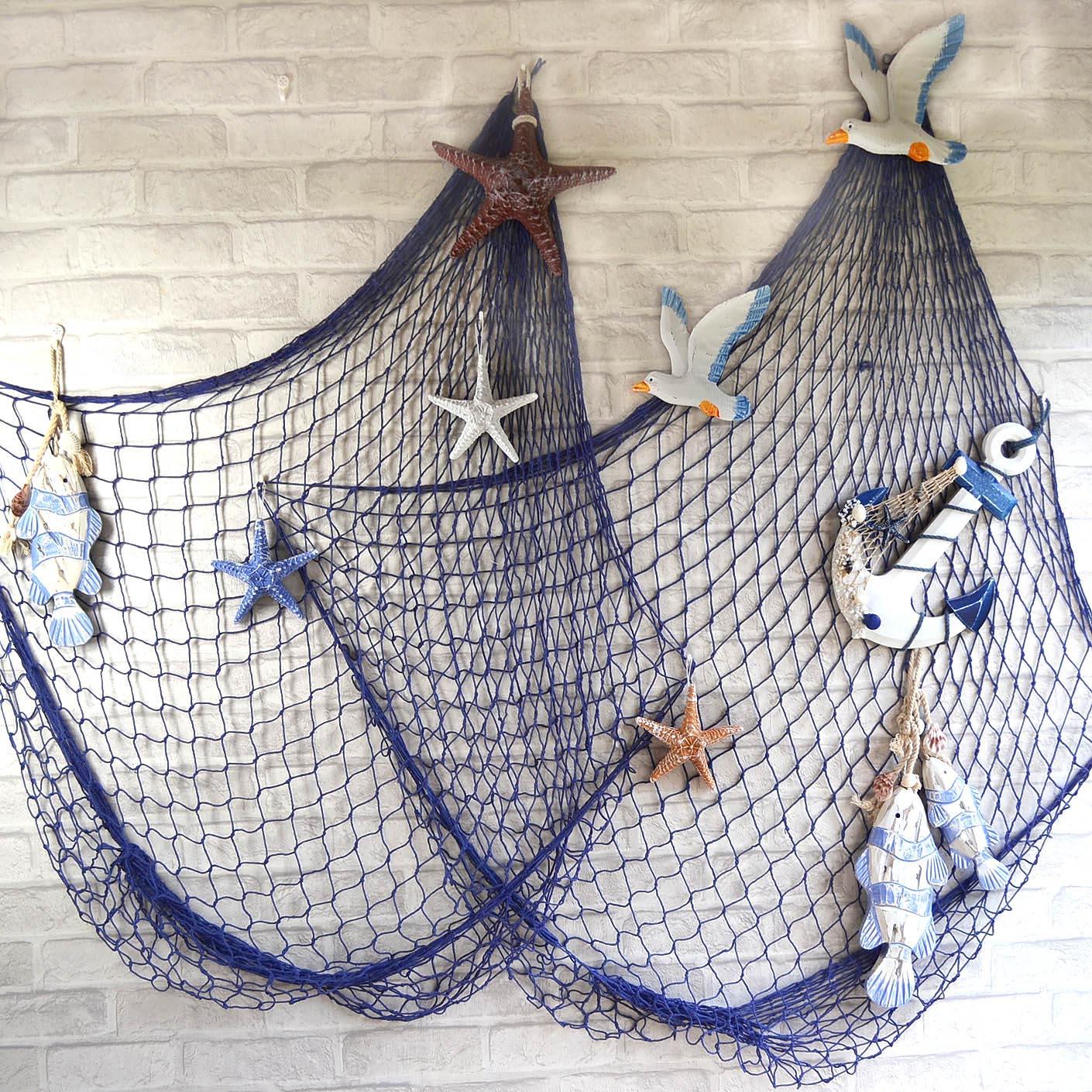 blu bianco rete da pesca muoni soffitto sfondo decorazione della ...