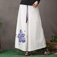 Fluid women's 2014 spring vintage national trend plus size trousers wide leg pants INMAN women pants