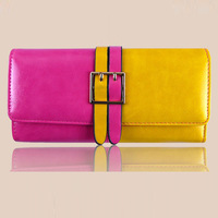 2014 New Hot Sale Wallet Women's Wallet Genuine Solid Leather Wallet Fashion Women Pures Gift For Women High Quality  D108