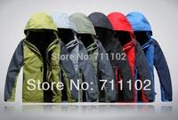 new men's clothes jackets outdoor camping climbing skiing sports coats hood removable autumn men A+++ XXXL big 3XL plus size