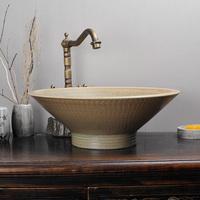 Colored glaze jumping bathroom ceramic wash basin wash basin