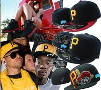 Free Hong Kong Shipping Pittsburgh Pirates bboy Baseball Chapeu Sombrero Bone Sport Outdoor Hip Hop Fitted Cap Hat for Men Women