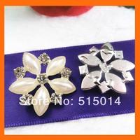 flower pearls and rhinestone buckle for wedding invitation card ,rhinestone embellishment for wedding   200pcs/lot