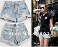 new summer 2014 for Women vintage shorts jeans feminino Ripped Hole short jeans denim female distress cutoffs shorts