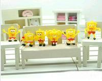 Retail   High Quality 6 Style 3cm  SpongeBob Cute Keychain  Lot