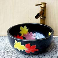 Jingdezhen ceramic circle basin small wash basin wash basin red diameter 32cm child small basin