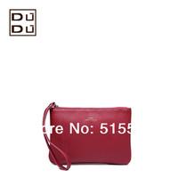 Dudu fashion women's handbag series women's cowhide leather clutch purse