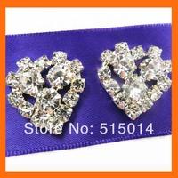 Heart  rhinestone button for wedding invitation card ,rhinestone embellishment for wedding   200pcs/lot