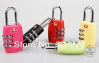 TSA335 Resettable 3 Digit Combination Padlock free shipping Suitcase Travel Lock TSA locks Luggage Padlock