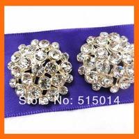 Round rhinestone button for wedding invitation card ,rhinestone embellishment for wedding   200pcs/lot