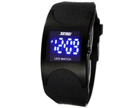 Free shipping by hk post SKMEI 0951 LED Digital and men Sports Watch with Silicone Band Arced Dial Sport Electronic Wrist Watch