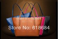 Hot selling 2014 New Edition Leather Handbag Shoulder Bag Diagonal Fashion Retro Bag Ladies Handbag