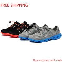 Free shipping 2014 new men leisure Sports shoes, EVA foam soles, breathable mesh cloth  shoes surface comfortable men's shoes