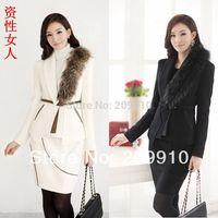 2014 New Autumn and winter plus size women work wear set woolen skirt twinset  Fashion formal  suit sets white black L-4XL